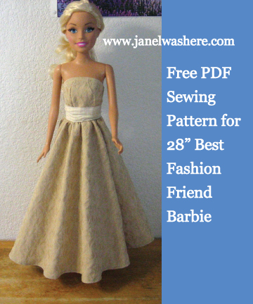 Versatile image intended for barbie dress patterns free printable pdf